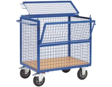 CHARIOT GRILLAGE SECURISABLE PM 1006 x 656 mm