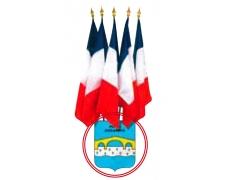 Ecussons porte-drapeaux à personnalisés