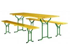 TABLES ET BANCS BRASSERIE PIETEMENT TUBULAIRE L.200 CM