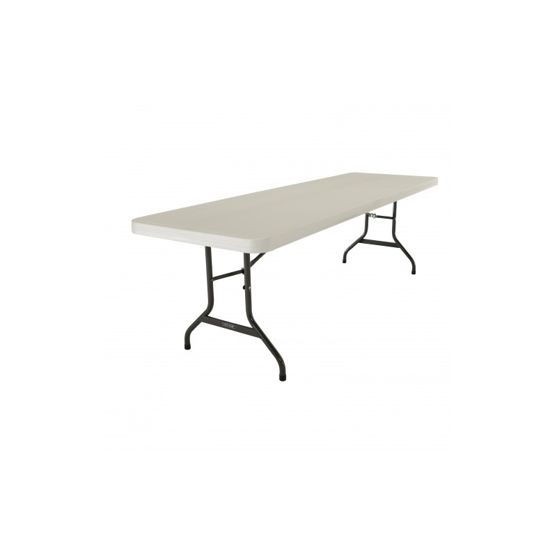 Table hdpe lifetime 244 x 76 cm equip 39 cit for Lifetime table pliante