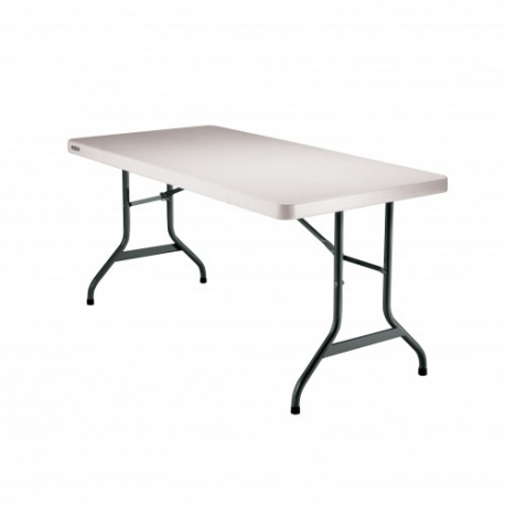 Table hdpe lifetime 152 x 76 cm equip 39 cit for Lifetime table pliante