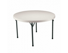 TABLE PLIANTE HDPE LIFETIME RONDE 122