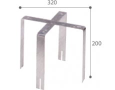 Eden - Pieds de fixation - corbeille 50 et 100 L