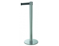 Poteau ligne - chrome sangle noir