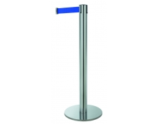 Poteau ligne - chrome sangle bleu