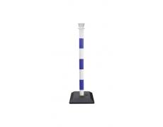 Poteaux ABS bicolore bleu et blanc
