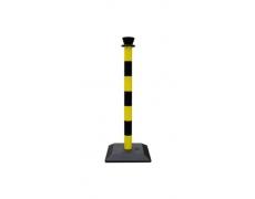 Poteaux ABS bicolore jaune et noir