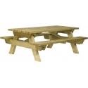 TABLE PIQUE-NIQUE BERLIN (A SCELLER) - L 200 CM