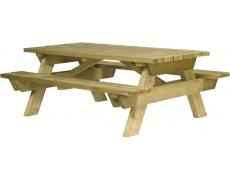 TABLE PIQUE-NIQUE BERLIN RALLONGEE PMR (A SCELLER) - L 200 CM